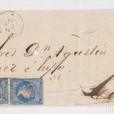 Sellos: FRONTAL. PUERTO RICO A CÁDIZ. 1864. DOBLE PORTE. Lote 172185563