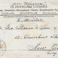 Sellos: CUBA EDIFIL 115. SOBRE ILUSTRADO DIRIGIDO DE LA HABANA A NUEVA YORK 1890. Lote 172648774