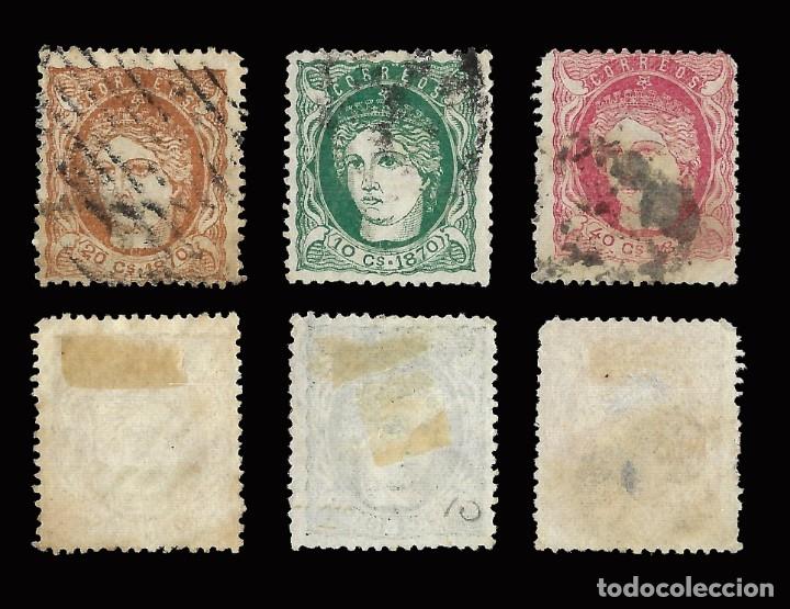 Sellos: ANTILLAS.España.1870 Efigie Alegórica.Serie Usado Edifil 19-21 - Foto 2 - 172911855