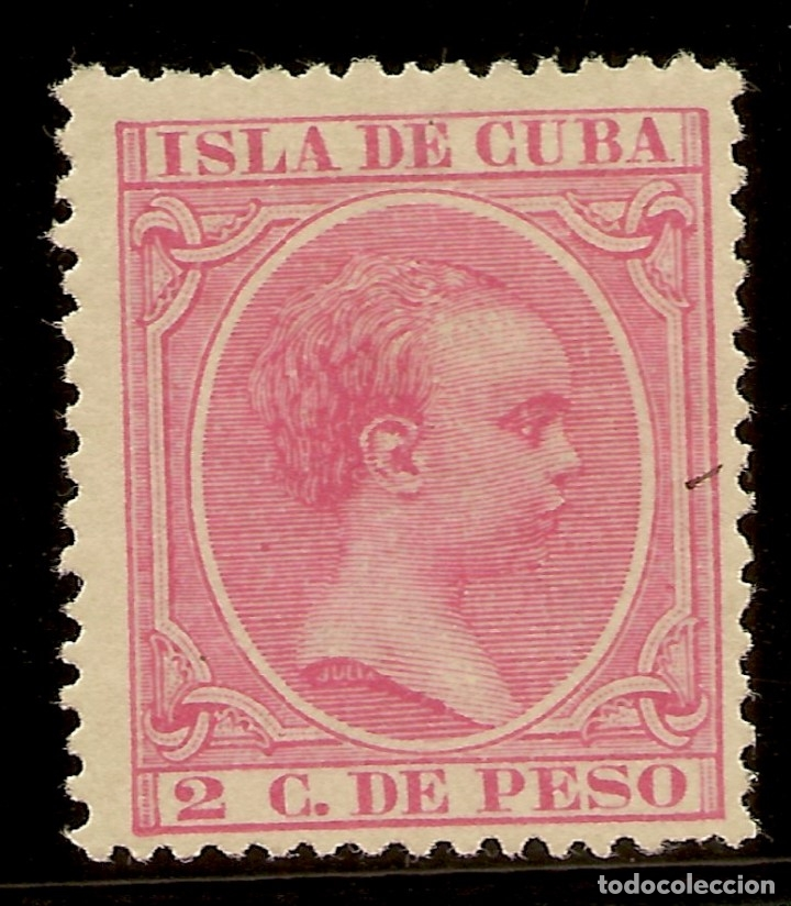 COLONIAS ESPAÑOLAS CUBA. EDIFIL 137 (*) MNG 2 CÉNTIMOS ROSA ALFONSO XIII 1894 NL1314 (Sellos - España - Colonias Españolas y Dependencias - América - Cuba)