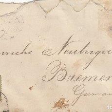 Sellos: CUBA 127(2) EN SOBRE A ALEMANIA EN 1893.. Lote 174166562
