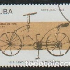 Sellos: CUBA 1993 SCOTT 3493 SELLO * BICICLETA DISEÑADA POR LEONARDO DA VINCI SIGLO XV 3C CUBA STAMPS TIMBRE. Lote 176139138