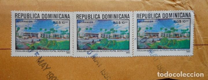 Sellos: TRES SELLOS DE 10 CENTAVOS DE LA REPÚBLICA DOMINICANA 1993 - Foto 2 - 177828305