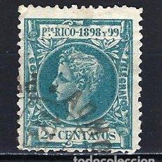 Sellos: PUERTO RICO 1898 - 2 CENTAVOS - ALFONSO XIII - EDIFIL 136 - USADO. Lote 178989101