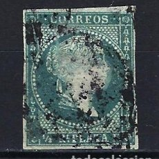 Sellos: ANTILLAS CUBA 1855 - ISABEL II FILIGRANA DE LAZO - EDIFIL 1 - USADO . Lote 179055911