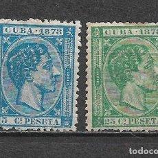 Francobolli: ESPAÑA CUBA 1878 * - 6/24. Lote 179084542