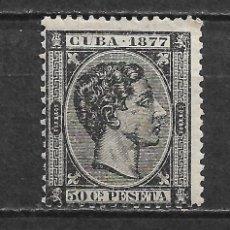 Sellos: ESPAÑA CUBA 1877 EDIFIL 42 * - 2/55. Lote 180127597