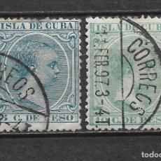 Sellos: ESPAÑA CUBA 1896 EDIFIL 149/150 - 2/53. Lote 180151365