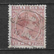 Sellos: ESPAÑA CUBA 1891 EDIFIL 128 - 2/53. Lote 180151528