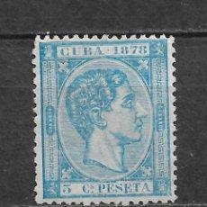 Sellos: ESPAÑA CUBA 1878 EDIFIL 44 (*) - 2/53. Lote 180151771