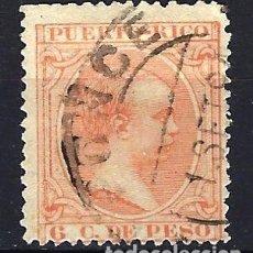 Sellos: 1894 PUERTO RICO EDIFIL 111 - 6 C. DE PESO - ALFONSO XIII - USADO. Lote 180160007