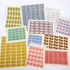 Sellos: 375 SELLOS CUBANOS EN 11 PLIEGOS. 1961/1970. NUEVOS, CON FIJASELLO. Lote 180331002