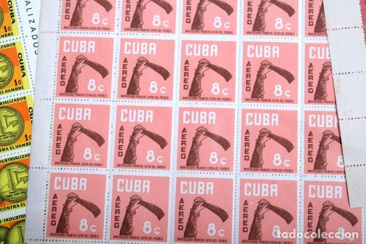 Sellos: 375 sellos cubanos en 11 pliegos. 1961/1970. Nuevos, con fijasello - Foto 2 - 180331002