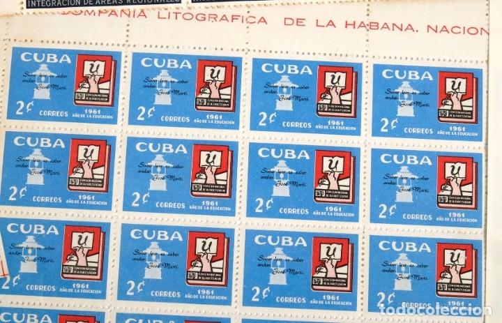 Sellos: 375 sellos cubanos en 11 pliegos. 1961/1970. Nuevos, con fijasello - Foto 5 - 180331002