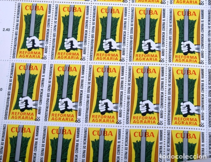 Sellos: 375 sellos cubanos en 11 pliegos. 1961/1970. Nuevos, con fijasello - Foto 7 - 180331002