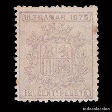 Selos: SELLOS ESPAÑA.CUBA 1875.ISABEL II.12 ½ C LILA.NUEVO*. EDIFIL 31.. Lote 180909656
