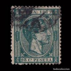 Sellos: SELLOS ESPAÑA.CUBA 1877.AFONSO XII.25C VERDE.USADO. EDIFIL 41.. Lote 180910101