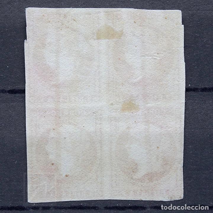 Sellos: España antillas 1857 ~ Isabel II • sin filigrana ~ bloque de 4 usado Bueno - Foto 4 - 181426011