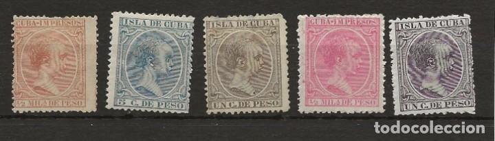 R8/ CUBA, LOTE DE SELLOS NUEVOS **/*, ALFONSO XIII ( EL PELON) (Sellos - España - Colonias Españolas y Dependencias - América - Cuba)
