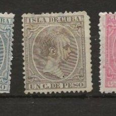 Sellos: R8/ CUBA, LOTE DE SELLOS NUEVOS **/*, ALFONSO XIII ( EL PELON). Lote 181577392