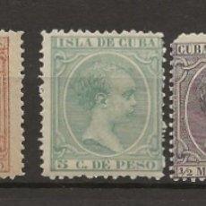 Sellos: R8/ CUBA, LOTE DE SELLOS NUEVOS **/*, ALFONSO XIII ( EL PELON). Lote 181577485