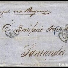 Sellos: CARTA 1858 HABANA-SANTANDER VIA PARIS . Lote 182473062