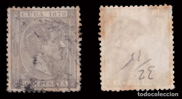 Sellos: Sello.CUBA.1879.Afonso XII.50c gris.Usado. Edifil 54. Envíos combinados. - Foto 2 - 183701941