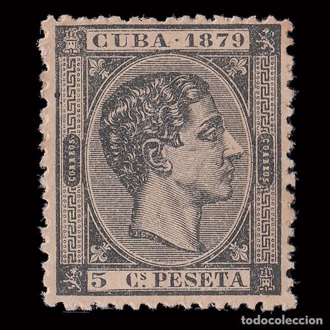 SELLO.CUBA.1879. ALFONSO XII. 50 C. NEGRO.NUEVO(*). EDIFIL. 50 (Sellos - España - Colonias Españolas y Dependencias - América - Antillas)