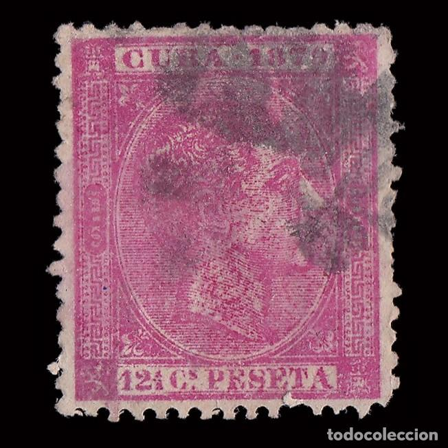 SELLO.CUBA.1879.AFONSO XII.12 ½ C ROSA PÁLIDO.USADO. EDIFIL 52. (Sellos - España - Colonias Españolas y Dependencias - América - Cuba)
