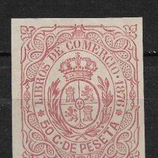 Sellos: ESPAÑA CUBA LIBROS DE COMERCIO 1876 - 14/28. Lote 184148052