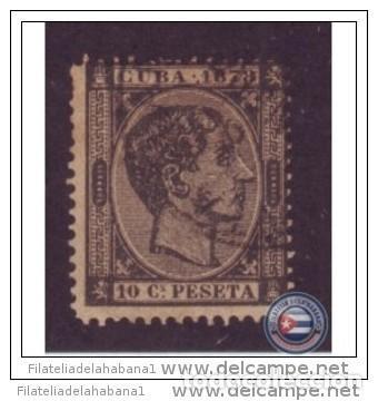 1878-5 CUBA ESPAÑA SPAIN. ALFONSO XII. 10C 1878. FALSO FILATELICO. PHILATELIC FORGERY (Sellos - España - Colonias Españolas y Dependencias - América - Cuba)