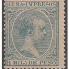 Sellos: 1896-84 CUBA SPAIN ESPAÑA. ALFONSO XIII. 1896. ED.141. 1ML MNH ORIGINAL GUM.. Lote 234972715
