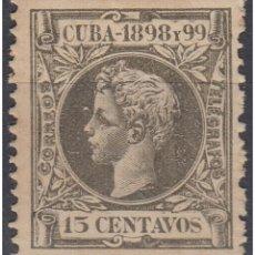 Sellos: 1898-158 CUBA SPAIN ESPAÑA. ALFONSO XIII. 1898. ED.167. 15C ORIGINAL GUM.. Lote 234972735