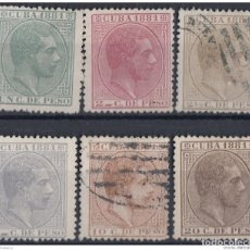 Sellos: 1881-84 CUBA SPAIN ESPAÑA 1881 ALFONSO XII 1C- 20C ED.62-67 MH AND USED.. Lote 184375067