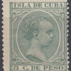 Sellos: 1896-205 CUBA ESPAÑA SPAIN. 5C VERDE. 1896. ALFONSO XIII. ED.149. MNH.. Lote 193911428