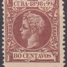 Sellos: 1898-238 CUBA ESPAÑA SPAIN. 80C. AUTONOMIA 1898. ALFONSO XIII. ED.171. MNH.. Lote 193911436