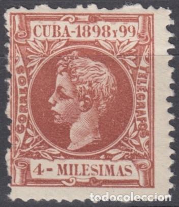 Sellos: 1898-236 CUBA ESPAÑA SPAIN. 4 mls. AUTONOMIA 1898. ALFONSO XIII. Ed.157. MNH. - Foto 2 - 193911455