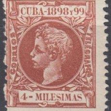 Sellos: 1898-236 CUBA ESPAÑA SPAIN. 4 MLS. AUTONOMIA 1898. ALFONSO XIII. ED.157. MNH.. Lote 193911455