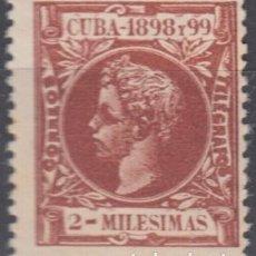 Sellos: 1898-234 CUBA ESPAÑA SPAIN. 2 MLS. AUTONOMIA 1898. ALFONSO XIII. ED.155. MNH.. Lote 193911467