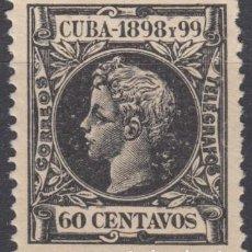 Sellos: 1898-239 CUBA ESPAÑA SPAIN. 60C. AUTONOMIA 1898. ALFONSO XIII. ED.170. MNH.. Lote 193911473