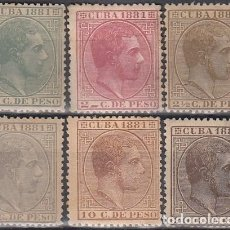 Sellos: 1881-98 CUBA SPAIN. ALFONSO XII. 1881. ED.62-67. COMPLETE SET.. Lote 184375505