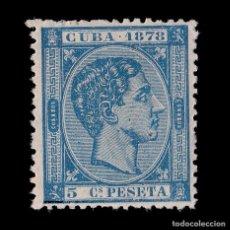 Sellos: CUBA 1878.AFONSO XII.5C AZUL.NUEVO*. EDIFIL 44.. Lote 186465307