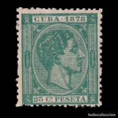 Sellos: CUBA 1878.AFONSO XII.25 C VERDE OSC.NUEVO*. EDIFIL 47.. Lote 186465322