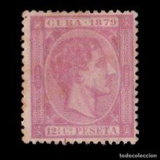 Sellos: SELLO.CUBA.1879.AFONSO XII.12 ½ C ROSA PÁLIDO.NUEVO(*). EDIFIL 52.. Lote 186465447