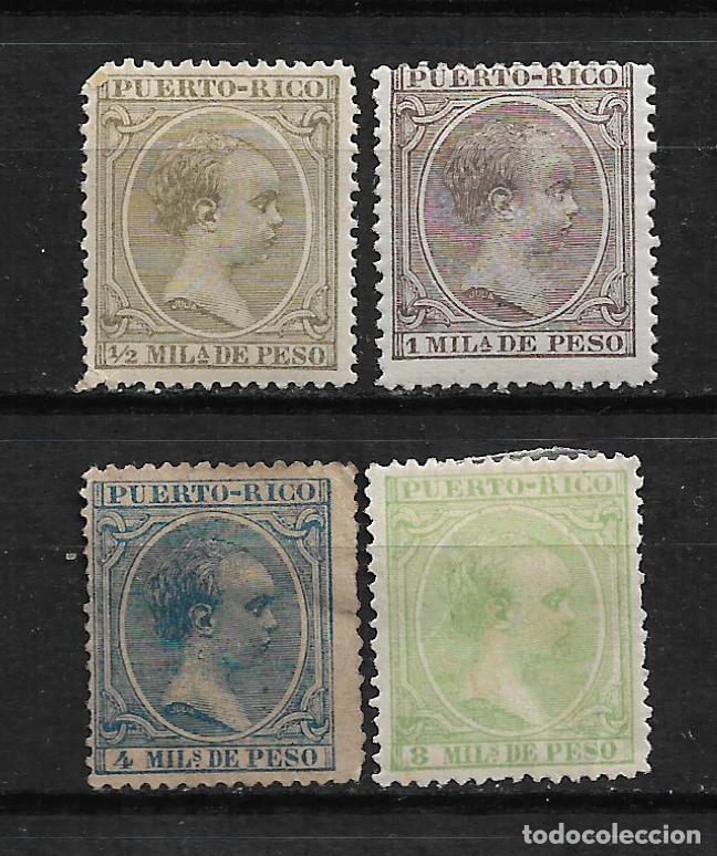 PUERTO RICO 1891 EDIFIL 86-87- 89 Y 91 * - 3/2 (Sellos - España - Colonias Españolas y Dependencias - América - Puerto Rico)
