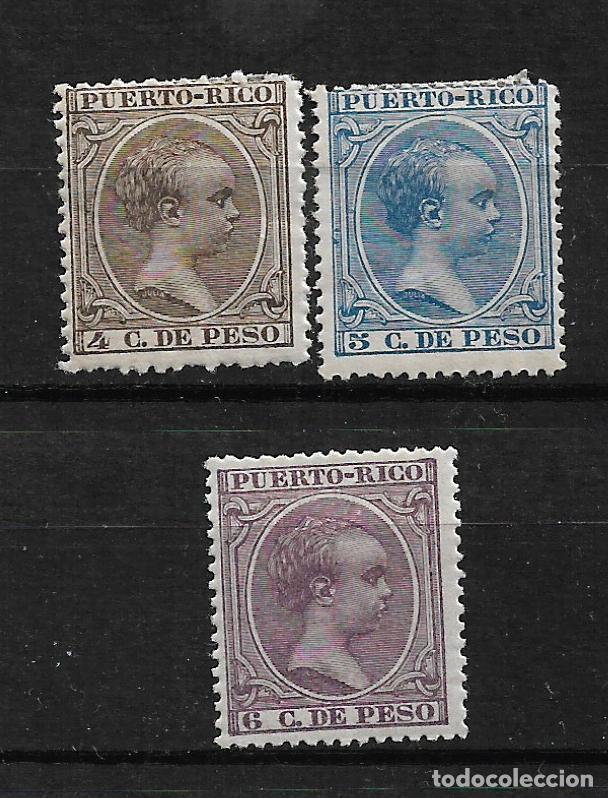 PUERTO RICO 1896 EDIFIL 123/125 * - 3/2 (Sellos - España - Colonias Españolas y Dependencias - América - Puerto Rico)
