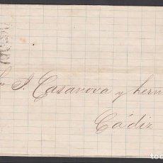 Sellos: ENVUELTA CIRCULADA DE LA HABANA - CADIZ, 15 NOV.1875 . Lote 187455035