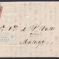 Sellos: CARTA CIRCULADA DE LA HABANA - MALAGA, 15 ABR 1870. Lote 187455553
