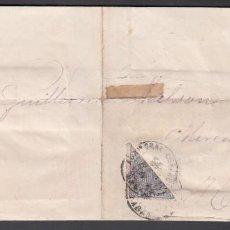 Sellos: ENVUELTA CIRCULADA CON SELLO FRACCIONADO 25CTS, HABANA 1875,. Lote 187456680