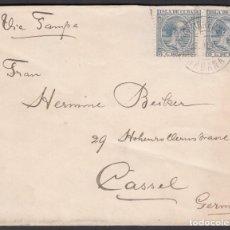 Sellos: CARTA CIRCULADA DE LA HABANA - CASSEL. ALEMANIA, 16 ABR. 1897. Lote 187456797
